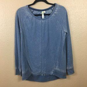 Green Tea blue light weight sweatshirt sz S
